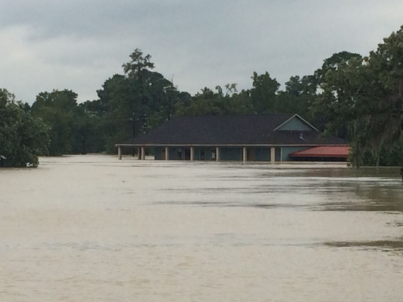 Kingwood Cove Clubhouse Flooded